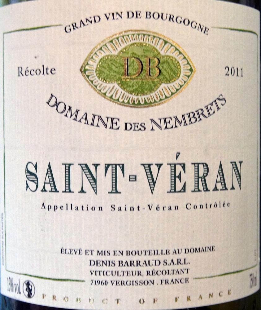 Saint-Véran 2011 - Denis Barraud
