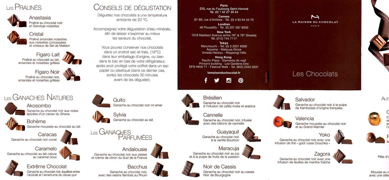 Gamme de la Maison du Chocolat