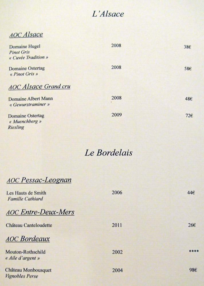 Alsace - Bordelais