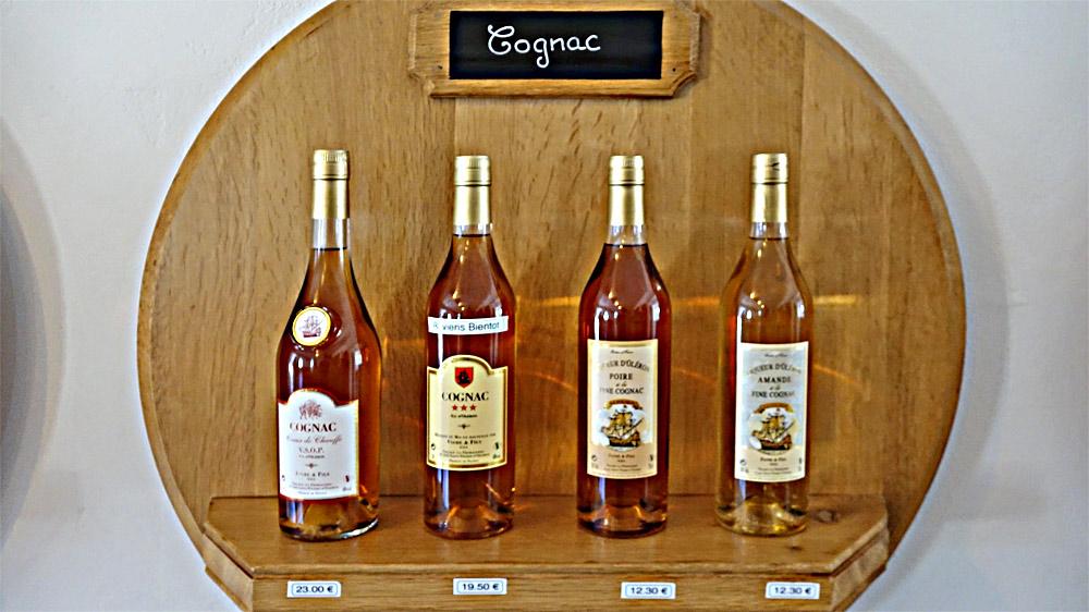 Les Cognacs en vente