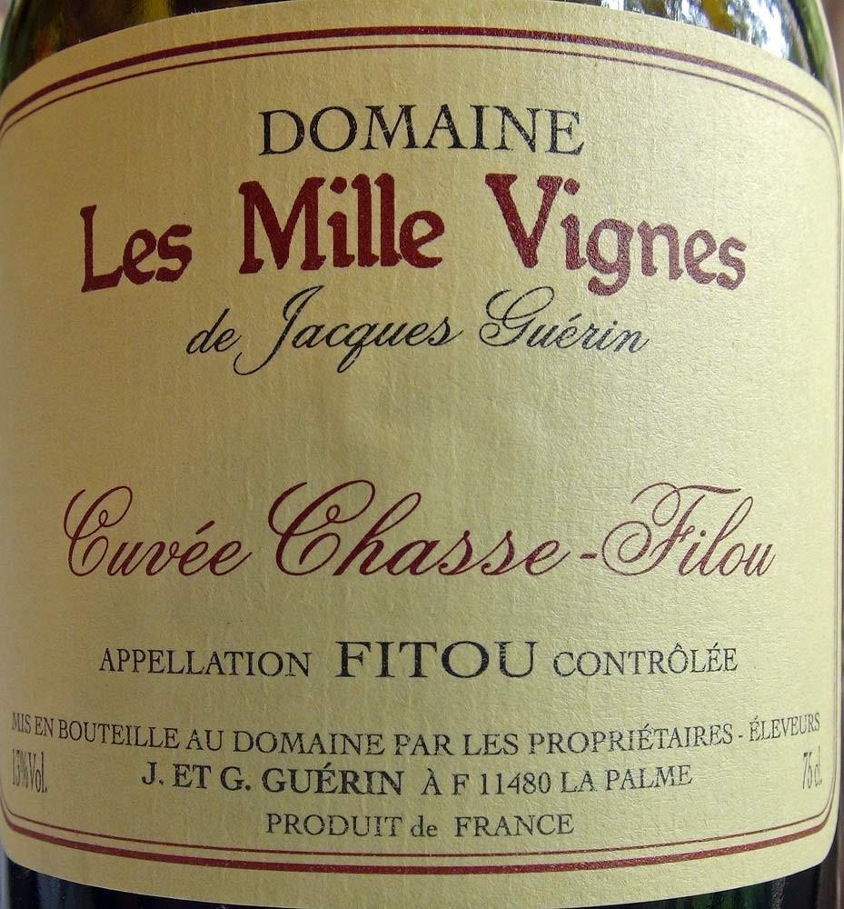 """Fitou 2012 """"Les mille vignes"""" J& G Guérin (Grenache noir)"""