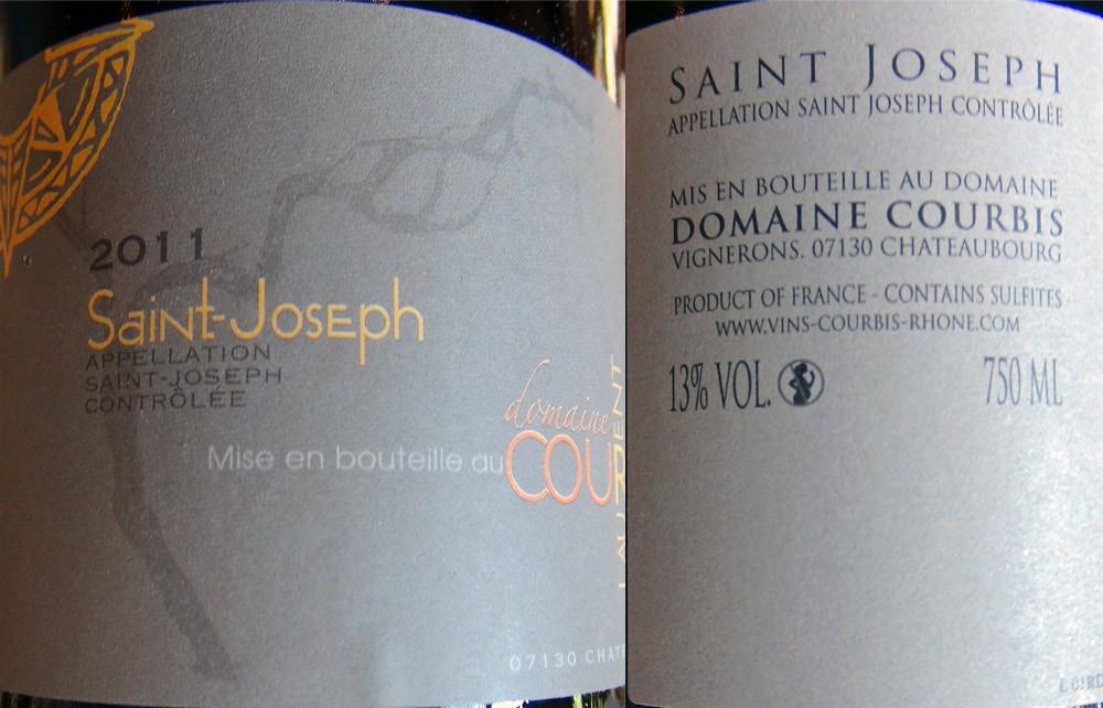 Le Saint-Joseph 2011 de chez Courbis