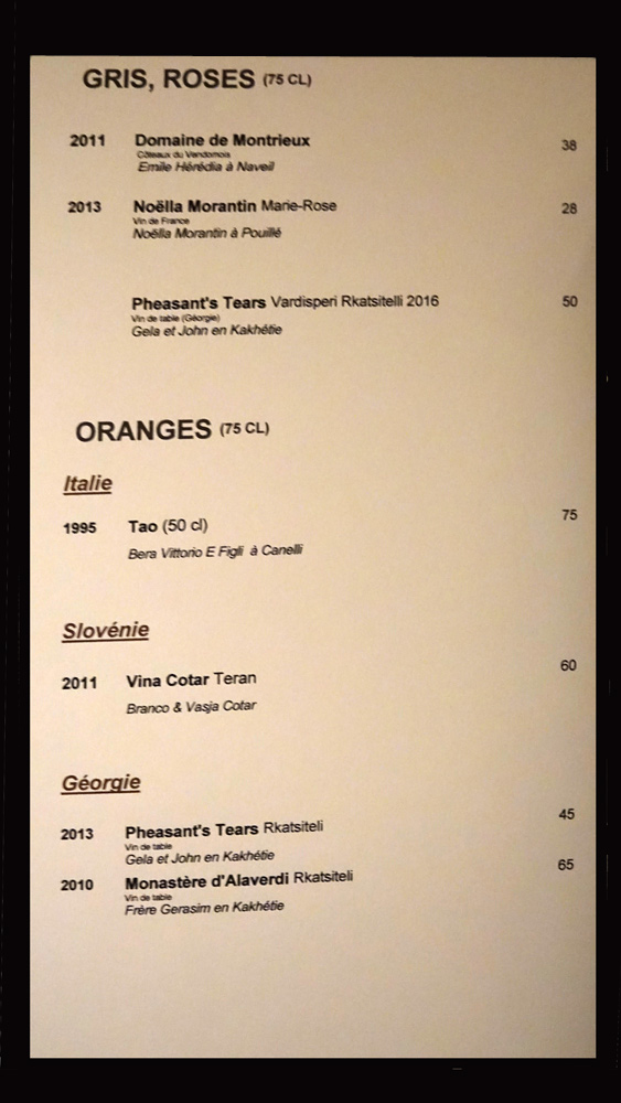 Vins gris, rosés et oranges