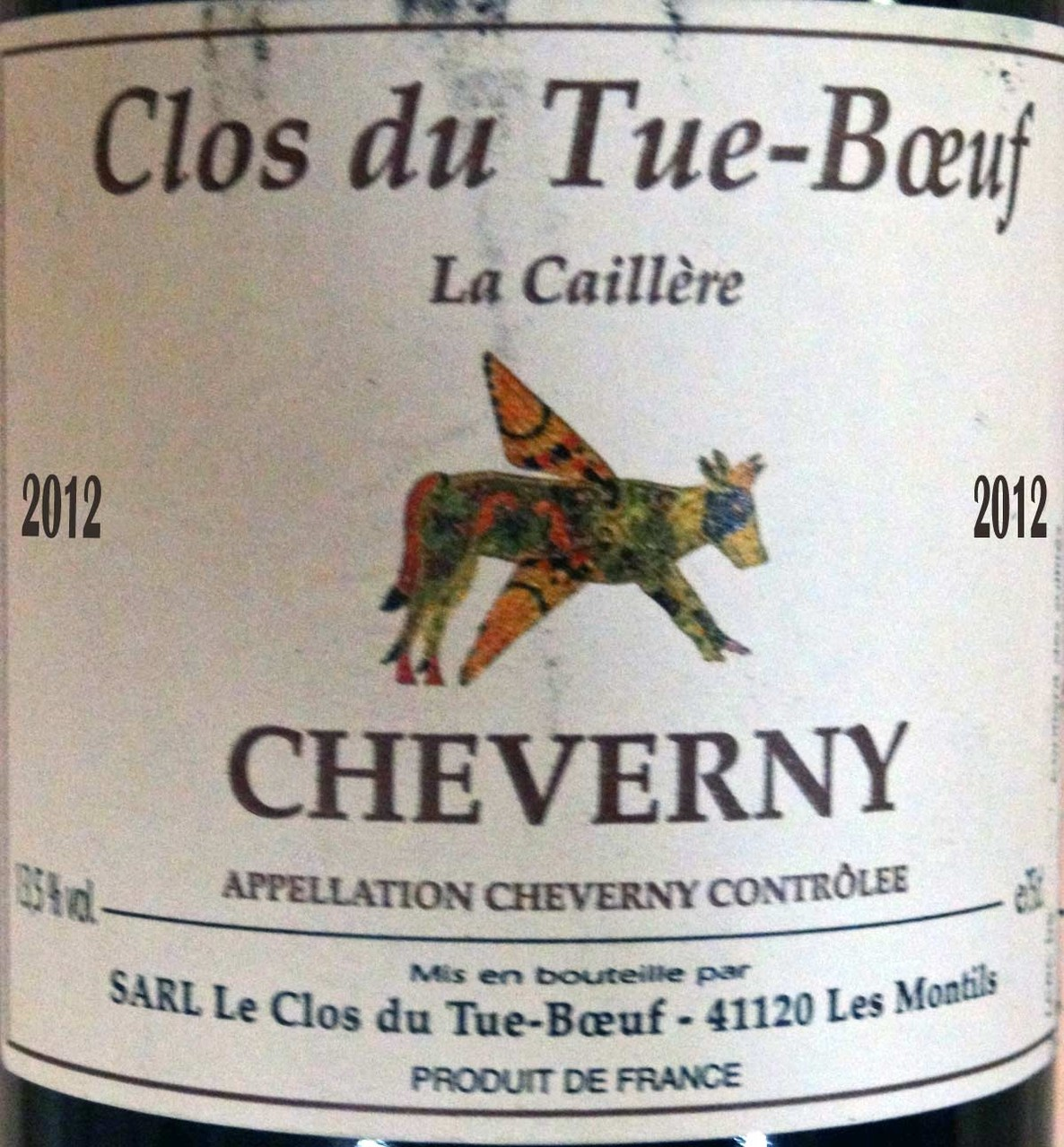 Cheverny rouge 2012