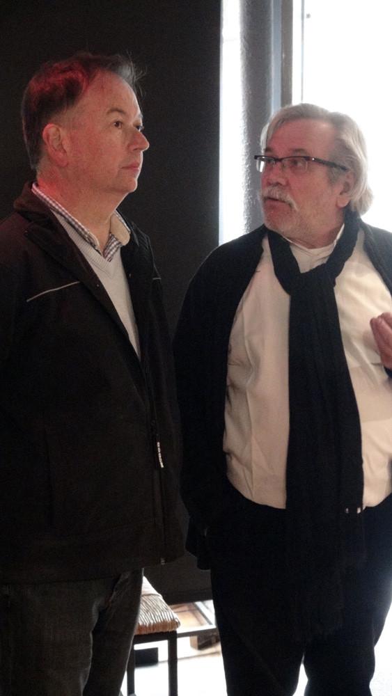 Daniel Jaguin et Jean Divry en pleine discussion
