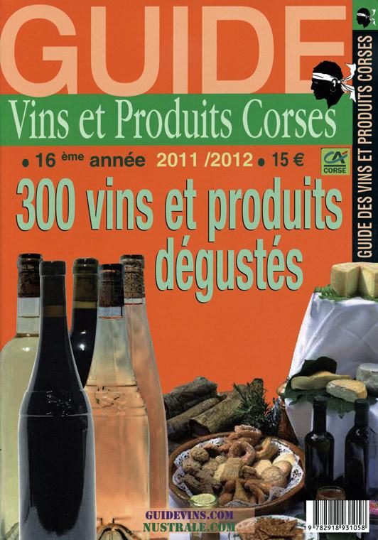 Le guide des vins et produits Corses aux éditions Nustrale