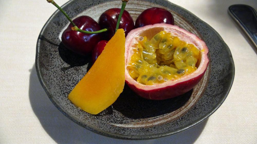 Cerises de Provence, fruit de la passion & mangue pour Pascale