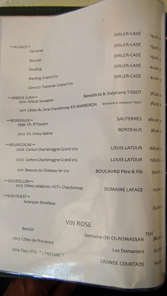 Vins blancs d'Alsace, du Jura, de Bordeaux, de Bourgogne, du Roussillon, du Sud-Ouest,  et Vins rosés