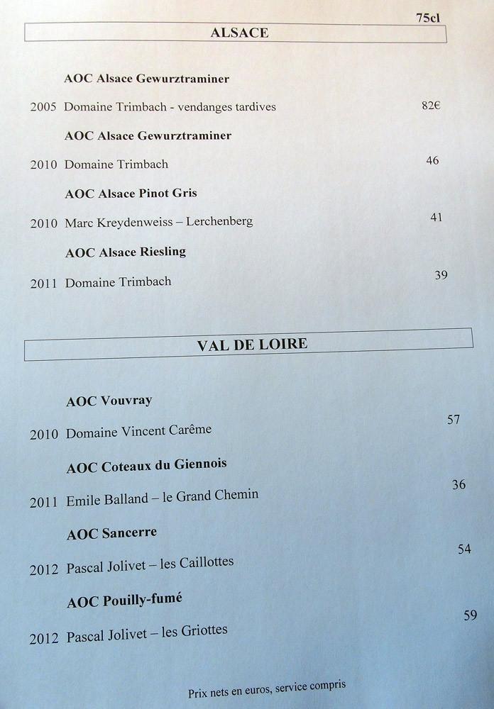 Vins blancs (Loire & Alsace)