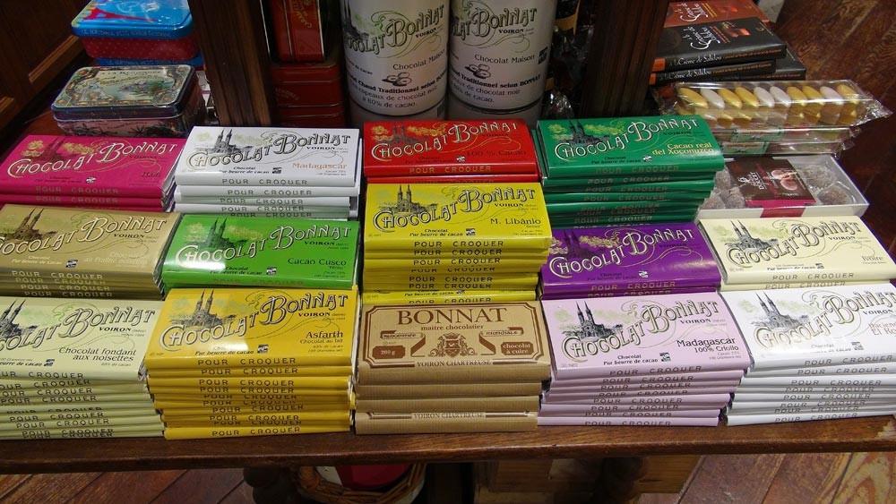 Plaquettes de chocolat Bonnat de 100 g