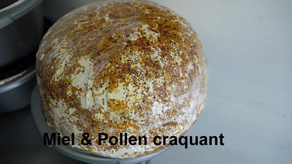 Nougat au miel et pollen craquant