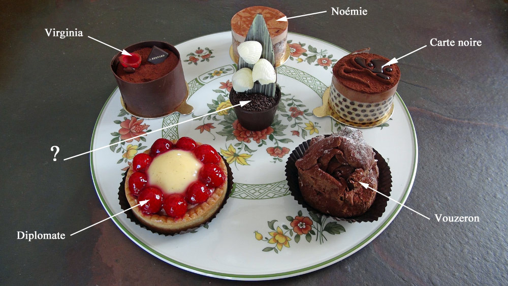 Les 6 gâteaux choisis et dégustés