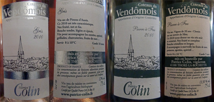 Les vins au verre pour les entrées