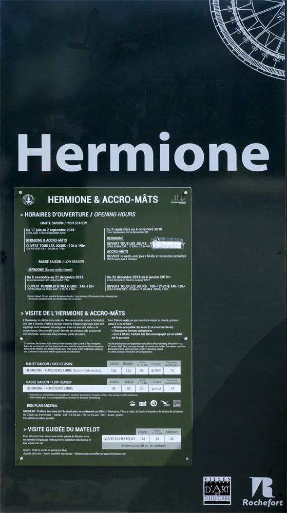 Quelques précisions à propos de l'Hermione