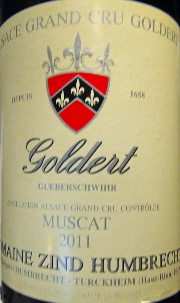 """Alsace 2011 Muscat """"Goldert"""" de Zind Humbrecht"""