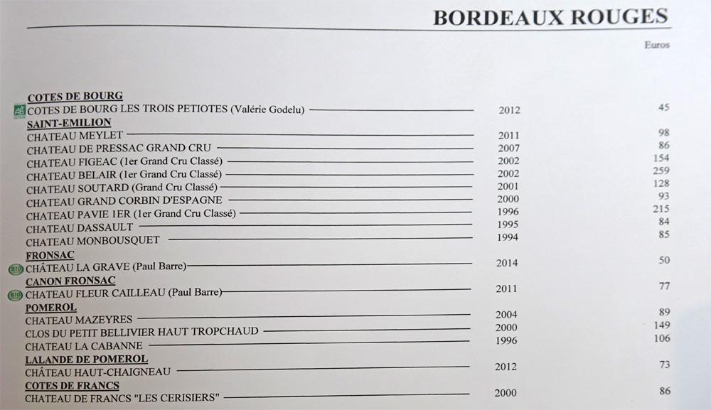 Bordeaux rouges