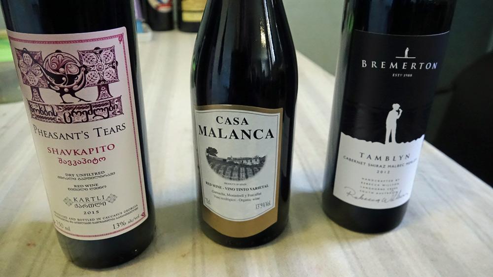 Les 3 vins achetés