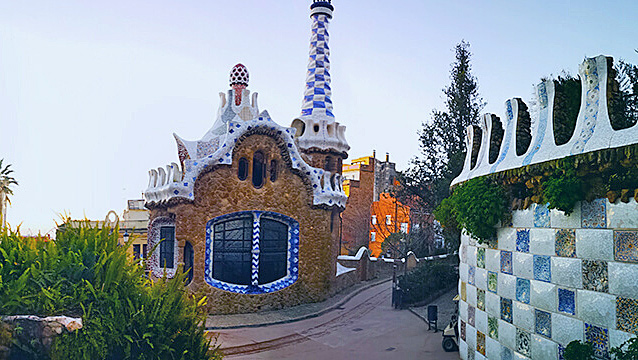 "La zone ""regulada"" - Crédit photo : //parkguell.barcelona"
