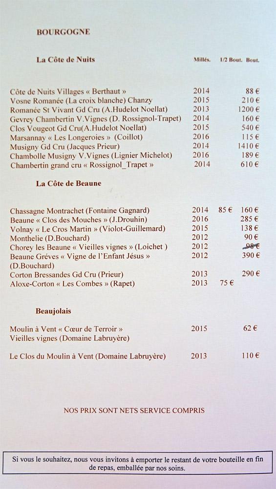 Vins rouges : Bourgogne