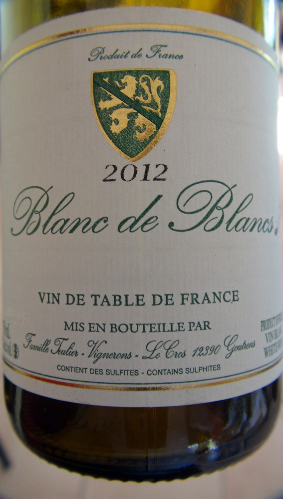 "Vin de table ""Blanc de blancs"" 2012"