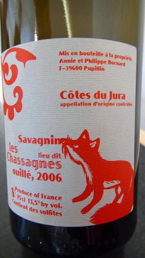 Côtes du Jura 2006 d'Annie & Philippe Bonnard