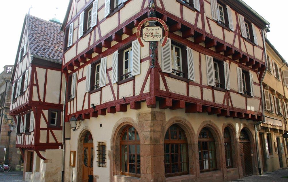 """Le restaurant """"Au Fer Rouge"""", où Patrick Fulgraff a exercé et obtenu 2 étoiles au guide Michelin"""