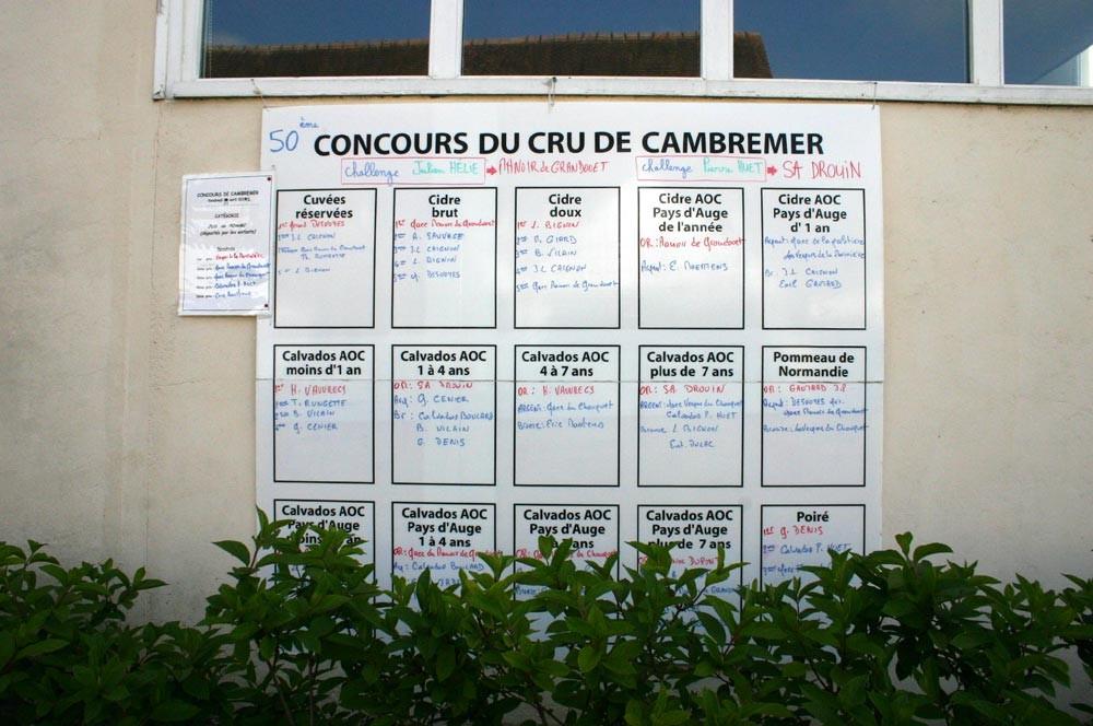 Palmarès des Cidres & Calvados