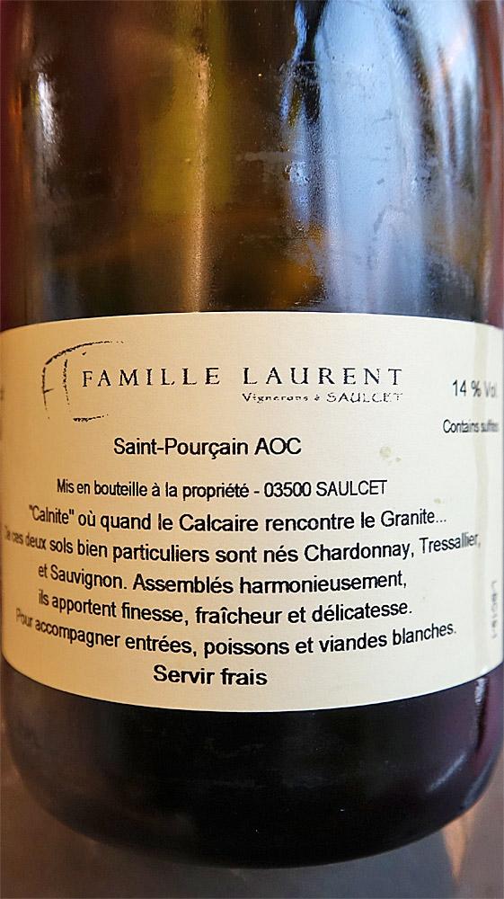 Etiquette du Saint-Pourçain blanc