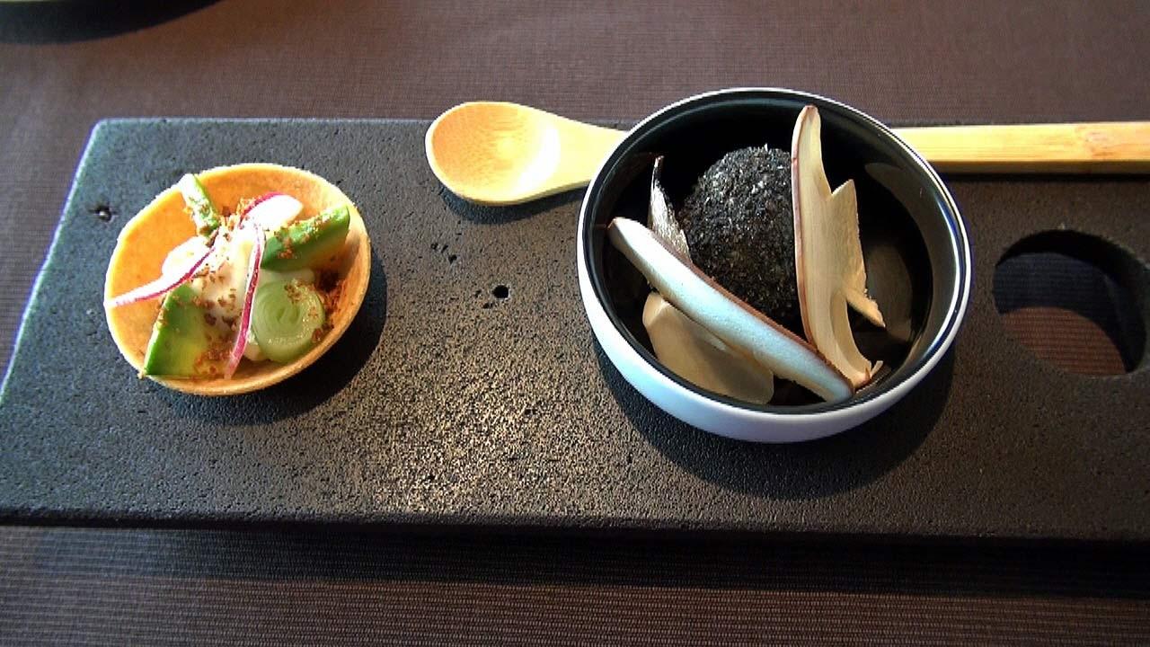 Tartelette de Laguiole et légumes de saison - Truffe surprise et cèpe
