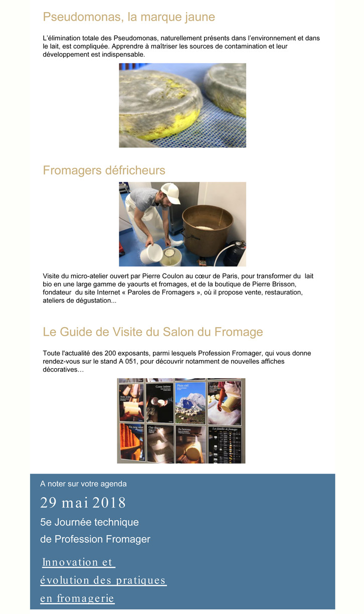 Profession fromager N°80