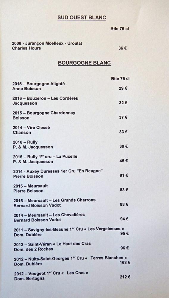 Vins blancs du Sud-Ouest et de Bourgogne