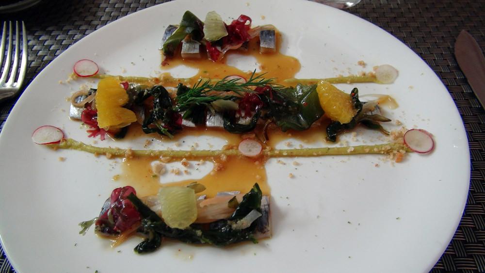 Lisettes de Bretagne marinées aux agrumes et gingembre