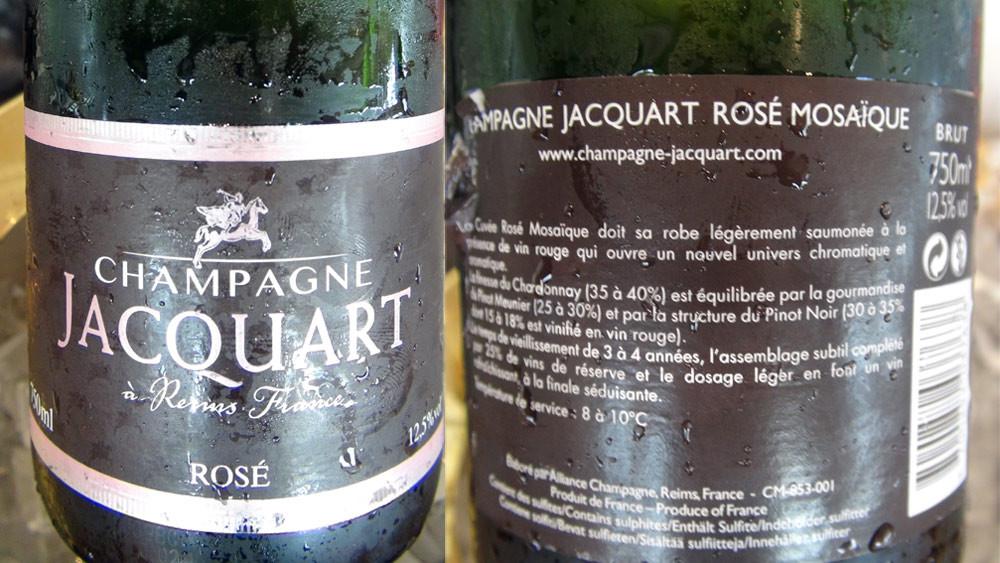 Champagne rosé Jacquart