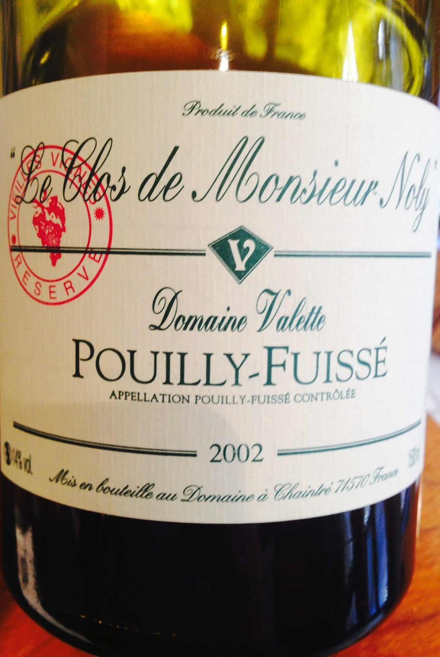 Pouilly-Fuissé 2002 Clos de Monsieur Noly de Valette (84 mois de vieillissement !) - Photo d'Alexandre Jean