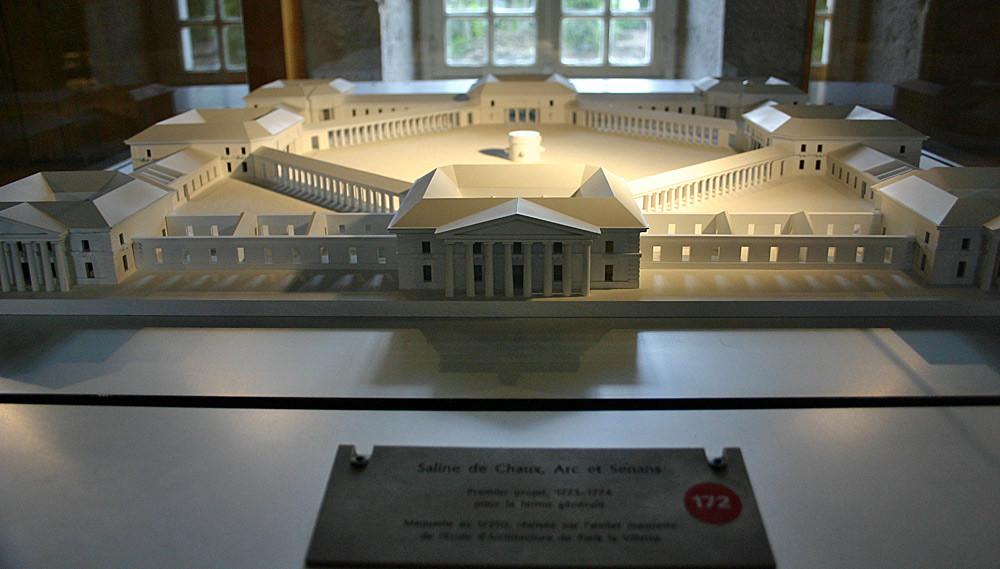Arc-et-Senans, la maquette de la Saline Royale de Chaux (premier projet, abandonné)