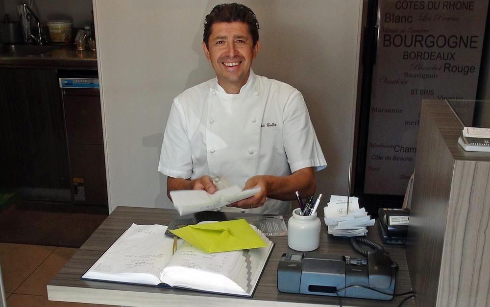Eric Gallet, propriétaire et chef