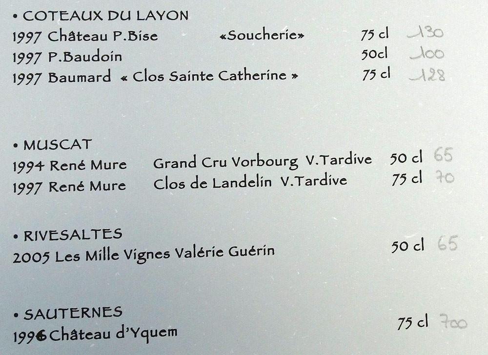 Vins moelleux & liquoreux (suite)