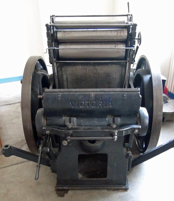 Presse typographique mécanique Victoria -  Rochstron et Schneider-Nachf  -  Classé 15/04/1987