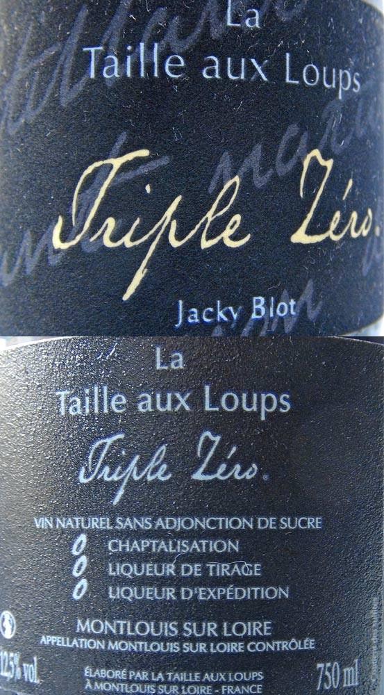 """Montlouis MT """"Triple zéro"""" de Jacky Blot"""