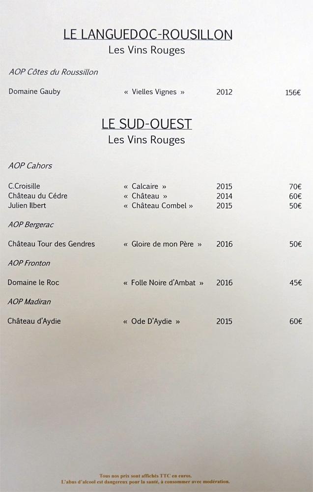 Vins rouges du Languedoc-Roussillon et du Sud-Ouest