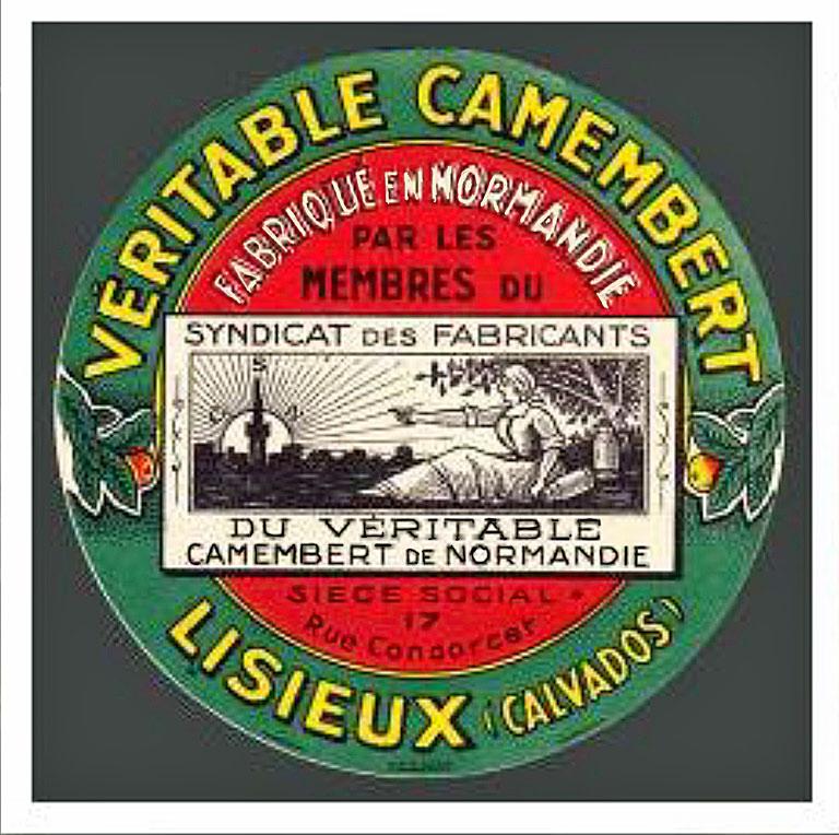 Ancienne étiquette de Camembert de Normandie