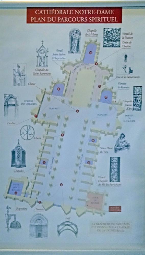 Le plan de la Cathédrale