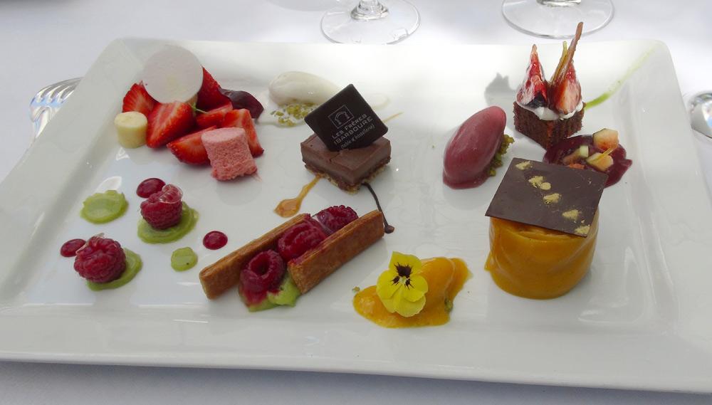 Tentation de desserts en petites portions