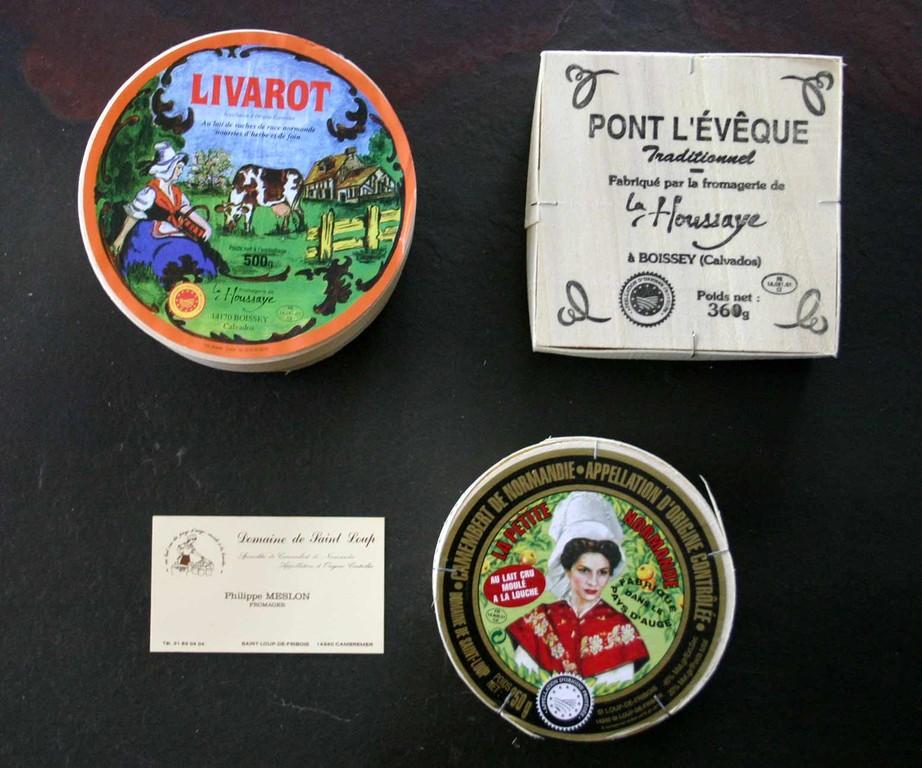 3 des 4 AOP fromagères de Normandie