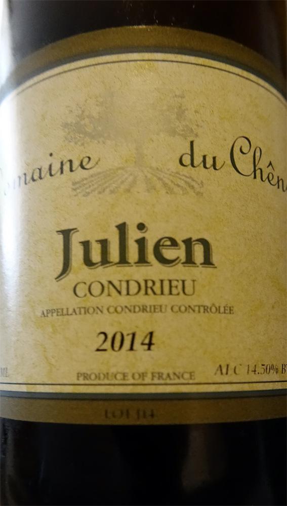 """Condrieu 2014 """"Julien"""" - Famille Rouvière"""