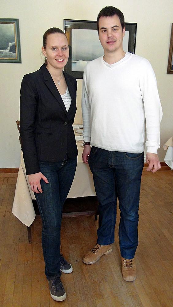 Aurélie Roulet & Eric Rialland (Photo prise en mars 2013)