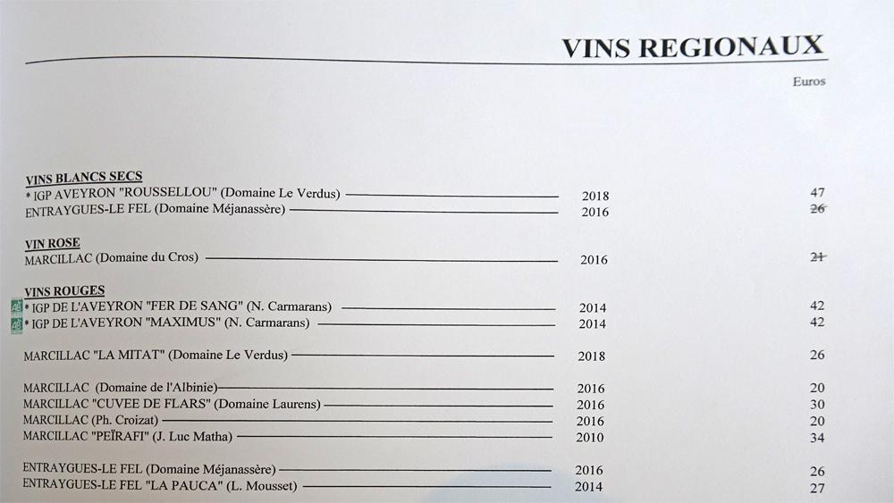 Vins régionaux