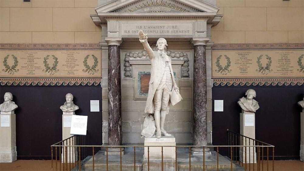 Jean-Sylvain Bailly, maire de Paris, le premier qui a prêté serment le 20 juin 1989 et qui sera guillotiné le 12 novembre 1793
