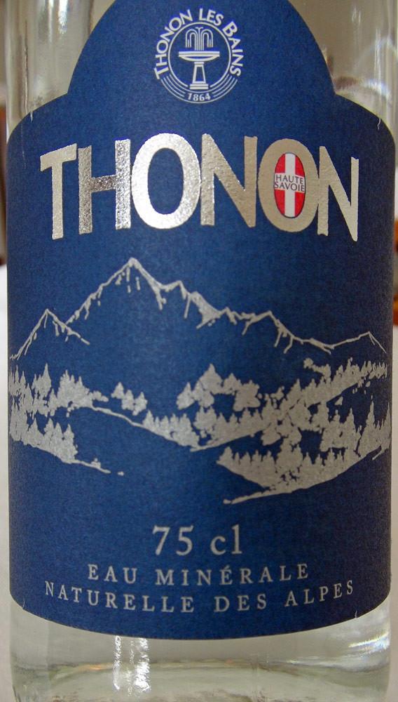 Eau minérale Thonon