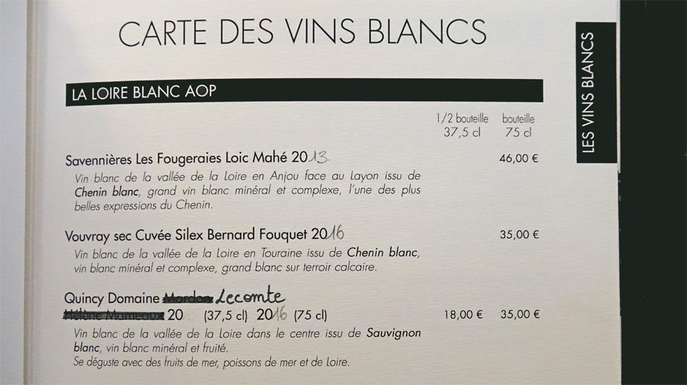 Vins blancs - Loire